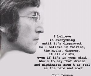 john lennon, quotes, and believe image