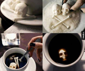 skull, sugar, and coffee image