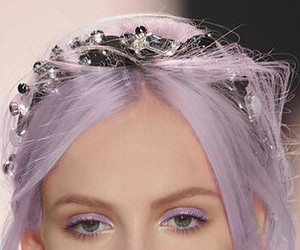 colorful hair, purple, and girl image