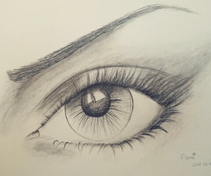 black, draw, and eyes image