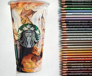 starbucks, art, and drawing image