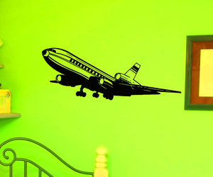 airplane, murals, and sticker image