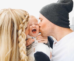 baby, couple, and boy image