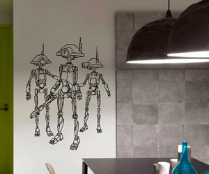 home decor, star wars, and decalsm walldecor image