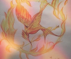drawing, flames, and games image