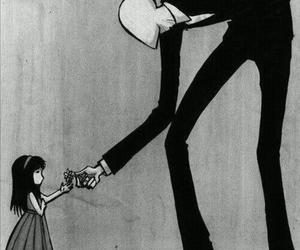 slenderman, flowers, and slender image