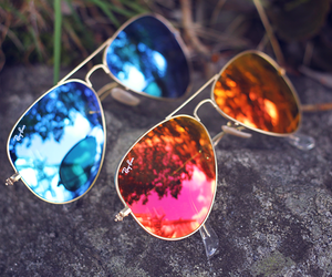 summer, rayban, and sunglasses image