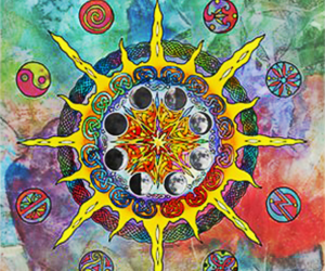 sun, hippie, and peace image