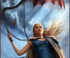 game of thrones, dragon, and khaleesi image