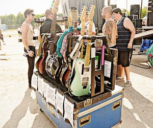fender, gibson, and guitars image