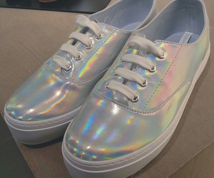 grunge, holographic, and shoes image