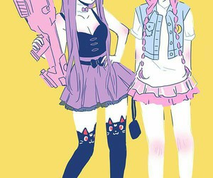 pastel, anime, and goth image