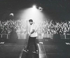 black and white, concerts, and rap image