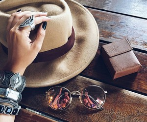 sunglasses, hat, and accessories image