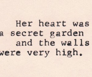 quote, love, and garden image