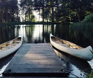 nature, lake, and boat image