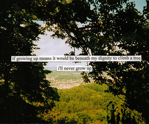 quote, text, and tree image