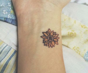 flower and tattoo image