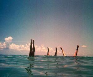 summer, sea, and legs image