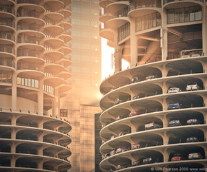 architecture, chicago, and marina city image