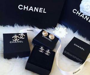 chanel, earrings, and luxury image