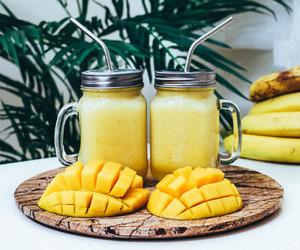 smoothies, banana, and mango image