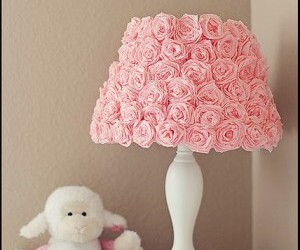 flowers, lamp, and pink image