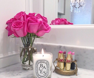beauty, candles, and pink image