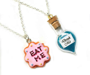 necklace, alice in wonderland, and bff image