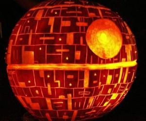 pumpkin, death star, and Halloween image