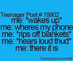 teenager post, funny, and phone image
