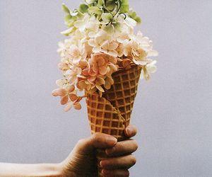 flowers and ice cream image