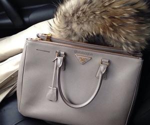 bag, Prada, and fur image