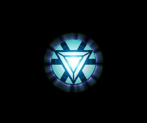 iron man, triangle, and arc reactor image