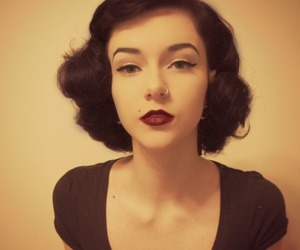 curls, pin, and vintage image