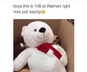 bear, walmart, and boys image