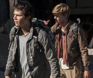newt, thomas, and maze runner image