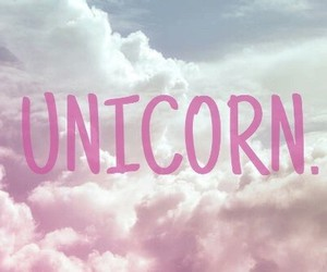 unicorn, pink, and clouds image