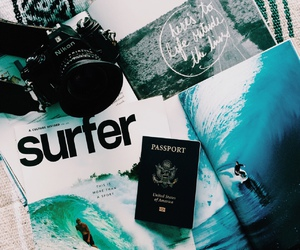 summer, surf, and surfer image