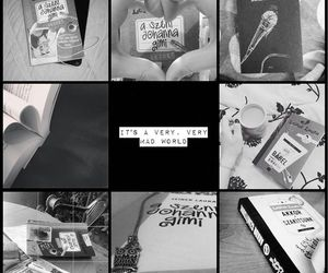 black and white, read, and reading image
