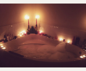 bath, candles, and love image