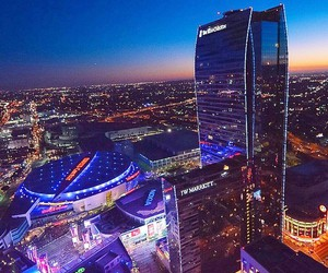 los angeles, california, and downtown image