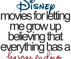 disney, text, and happy ending image