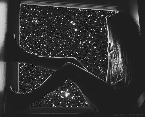 black and white, grunge, and stars image