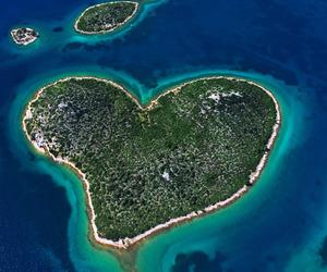 Island, heart, and Croatia image