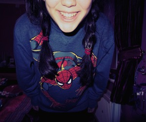 girl, jumper, and plaits image
