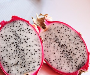 food, dragon fruit, and fruit image