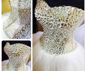 beautiful, cristal, and dress image
