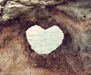 heart, love, and rock image
