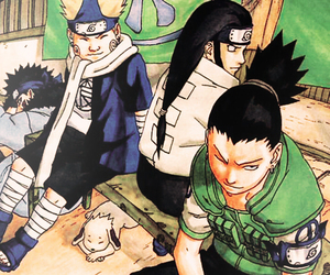 chouji, kiba, and neji image